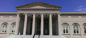 Front of a courthouse