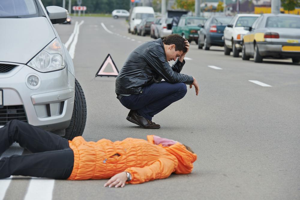 Hit by Car Crosswalk Pedestrian