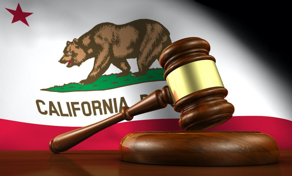 California Flag Legal Gavel