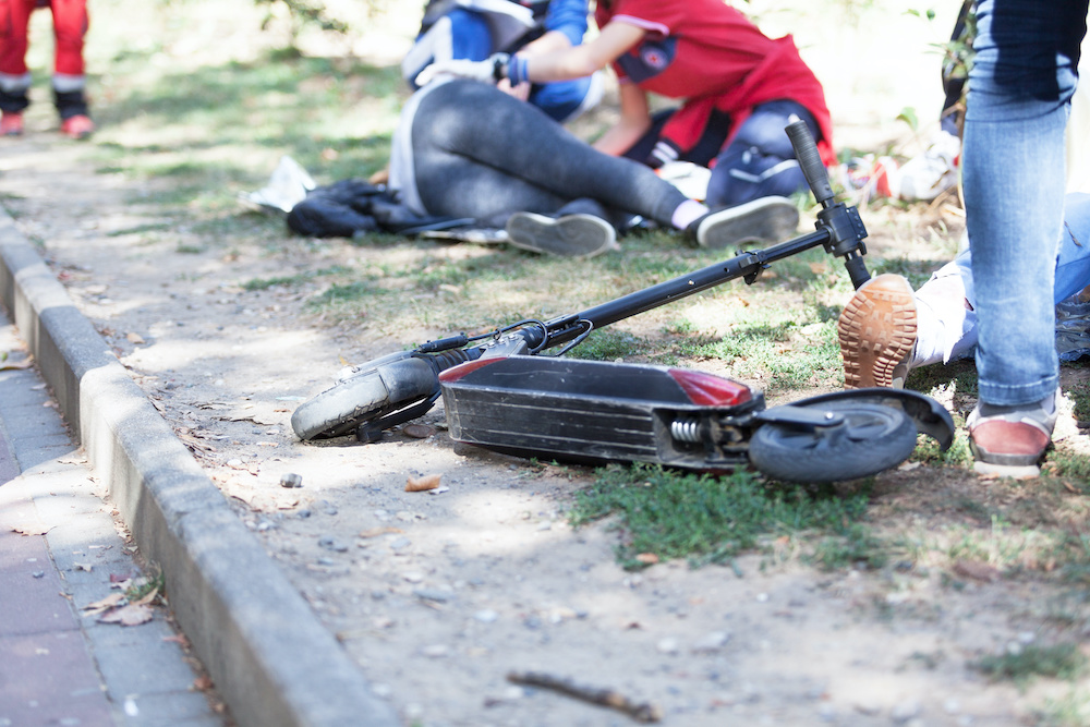 Fallen Electric Scooter Accident